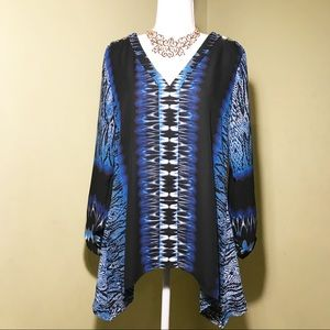 NY Collection long sleeves tunic top size S